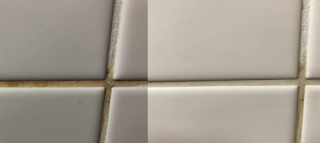 how to clean bathroom tiles grout