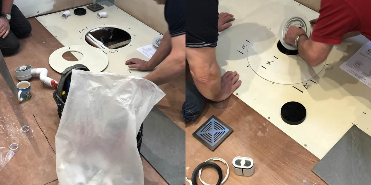 how to install a shower tray