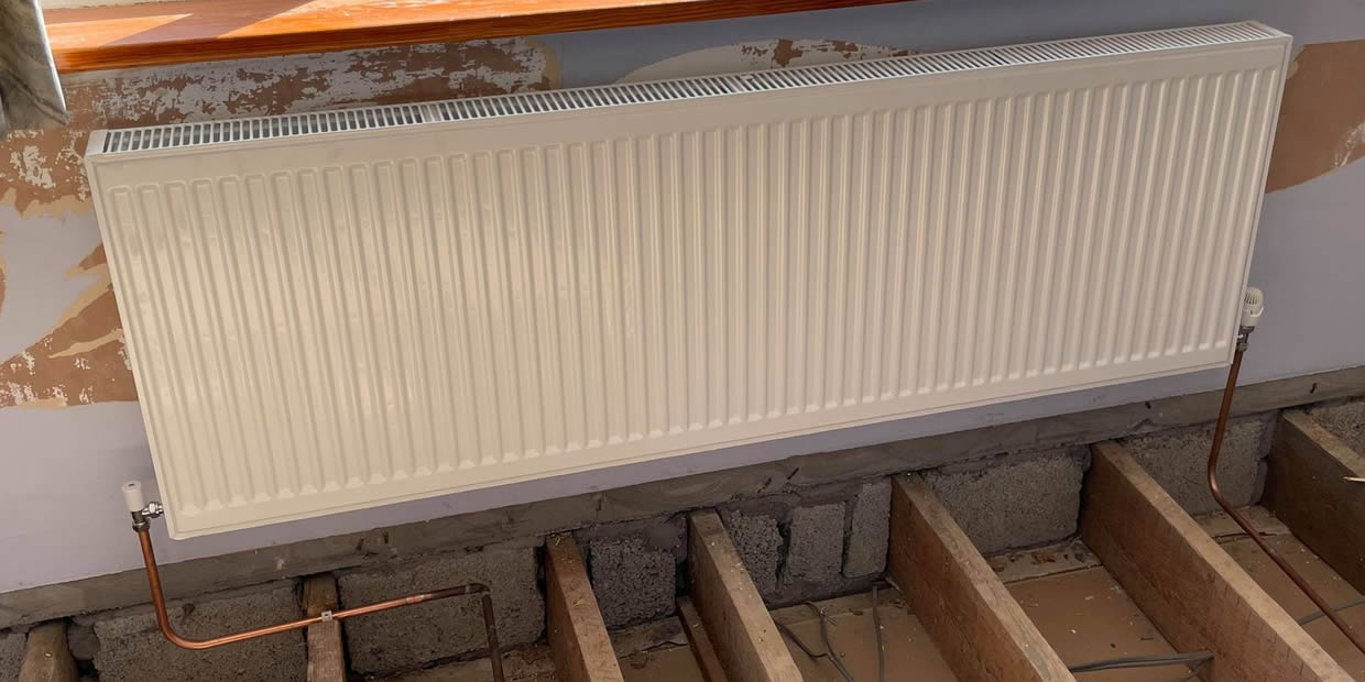 how to replace a central heating radiator